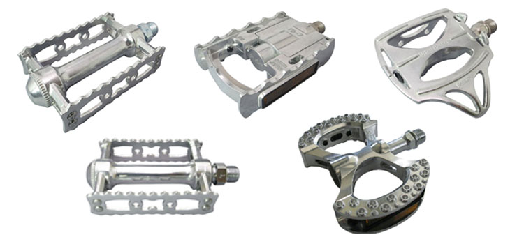 MKS Sylvan Track Alloy City Classic Toe Clip Compatible Bicycle Pedal Silver