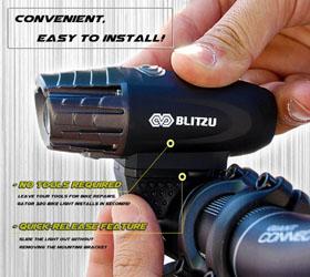Blitzu Gator 320 Bike Light Set Review - Easy To Install