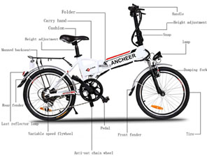 Ancheer Power Plus Folding Electric Mountain Bike Review-Construction