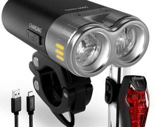 Best Bicycle Light - Vibiker USB Rechargeable Bike Light Kit