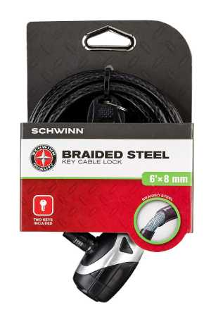 Schwinn's SW77861-3 Coil Key Lock