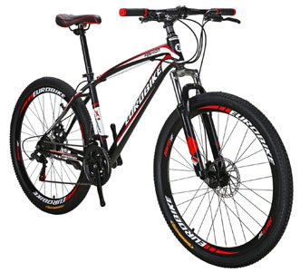EUROBIKE X1 Mountain Bike 21 Speed MTB Bicycle 27.5 Inch Wheels Suspension Fork Mountain Bicycle