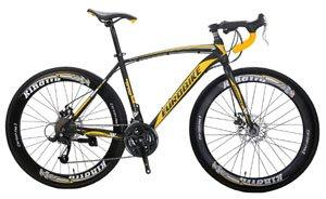 EUROBIKE Road Bike XC550 27 Speed 700C Road Bicycle Dual Disc Brake Bicycle