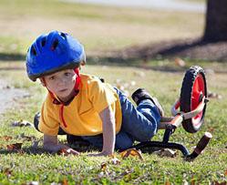 Bike Riding Lessons For Kids - Child Falls Off Bike