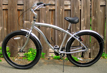About Cruiser Bicycles - Silver Cruiser Bike